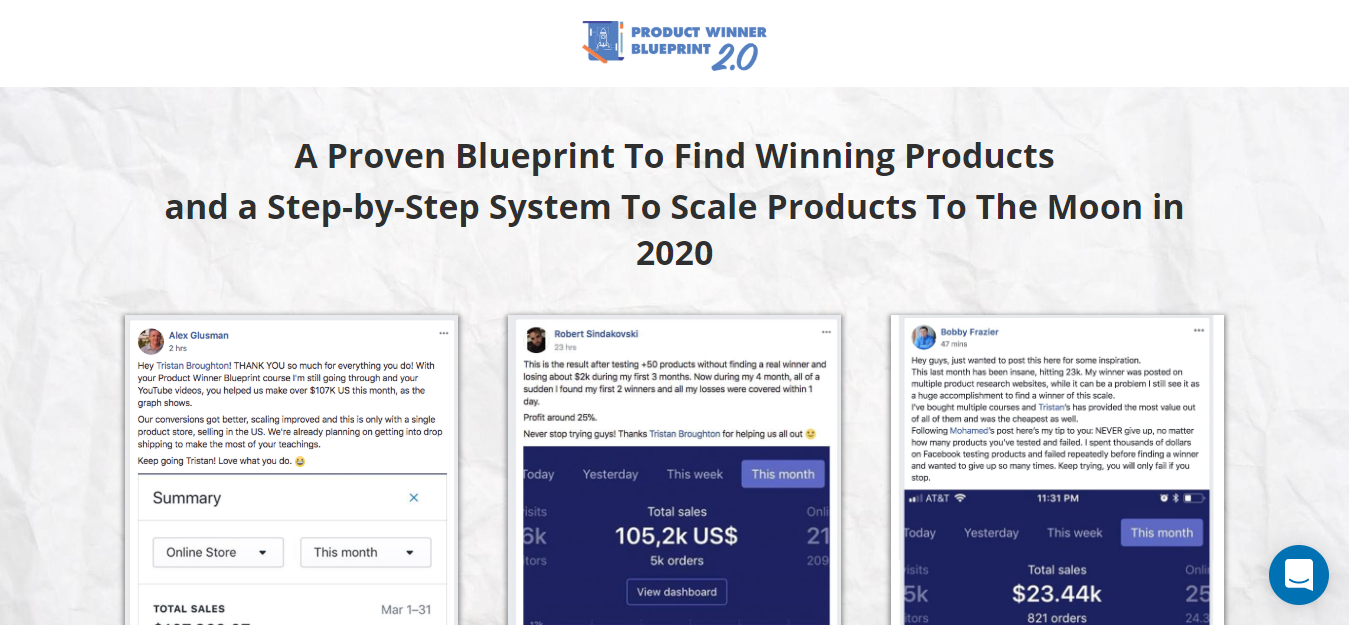 product winner bluepring the best course - ecomrecord